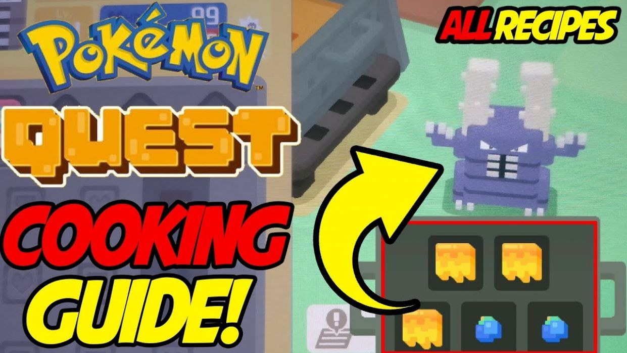 Pokemon Quest ALL RECIPES! Best Cooking Guide for Pokemon Quest! - Cooking Recipes Quest