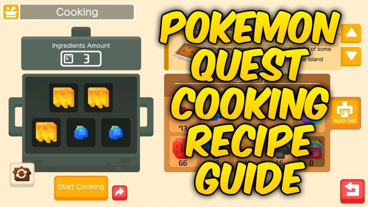 Pokemon Quest: Basic Cooking Recipe Guide (Nintendo Switch & Mobile) - Cooking Recipes Quest