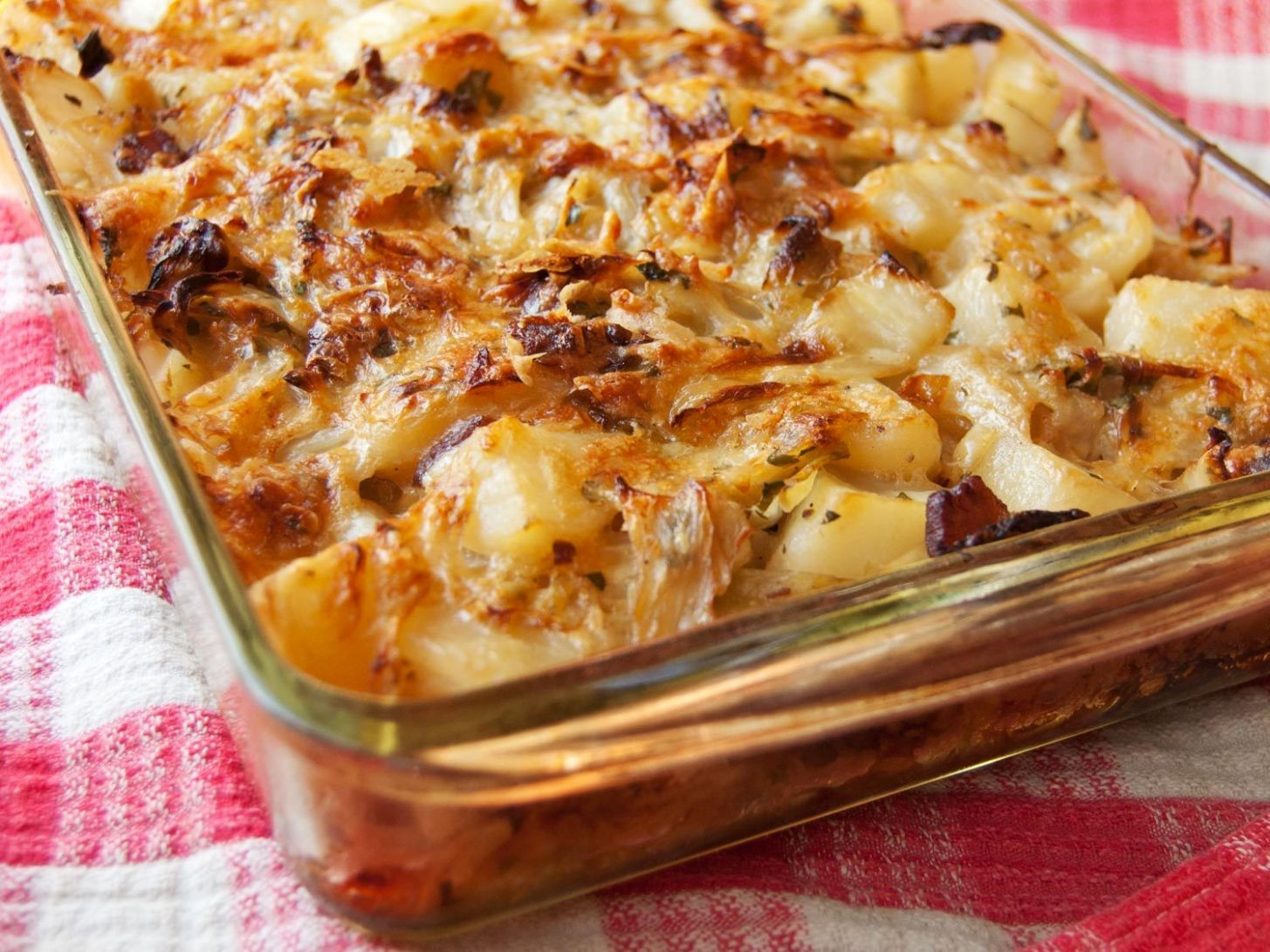 Polish Cabbage, Potato, and Bacon Casserole Recipe