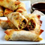 Pork And Vegetable Crispy Baked Egg Rolls – Pinch And Swirl – Recipes Using Egg Roll Wrappers