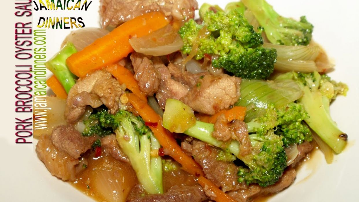 PORK BROCCOLI OYSTER SAUCE: Asian Americas Dinners - Recipe Pork Oyster Sauce