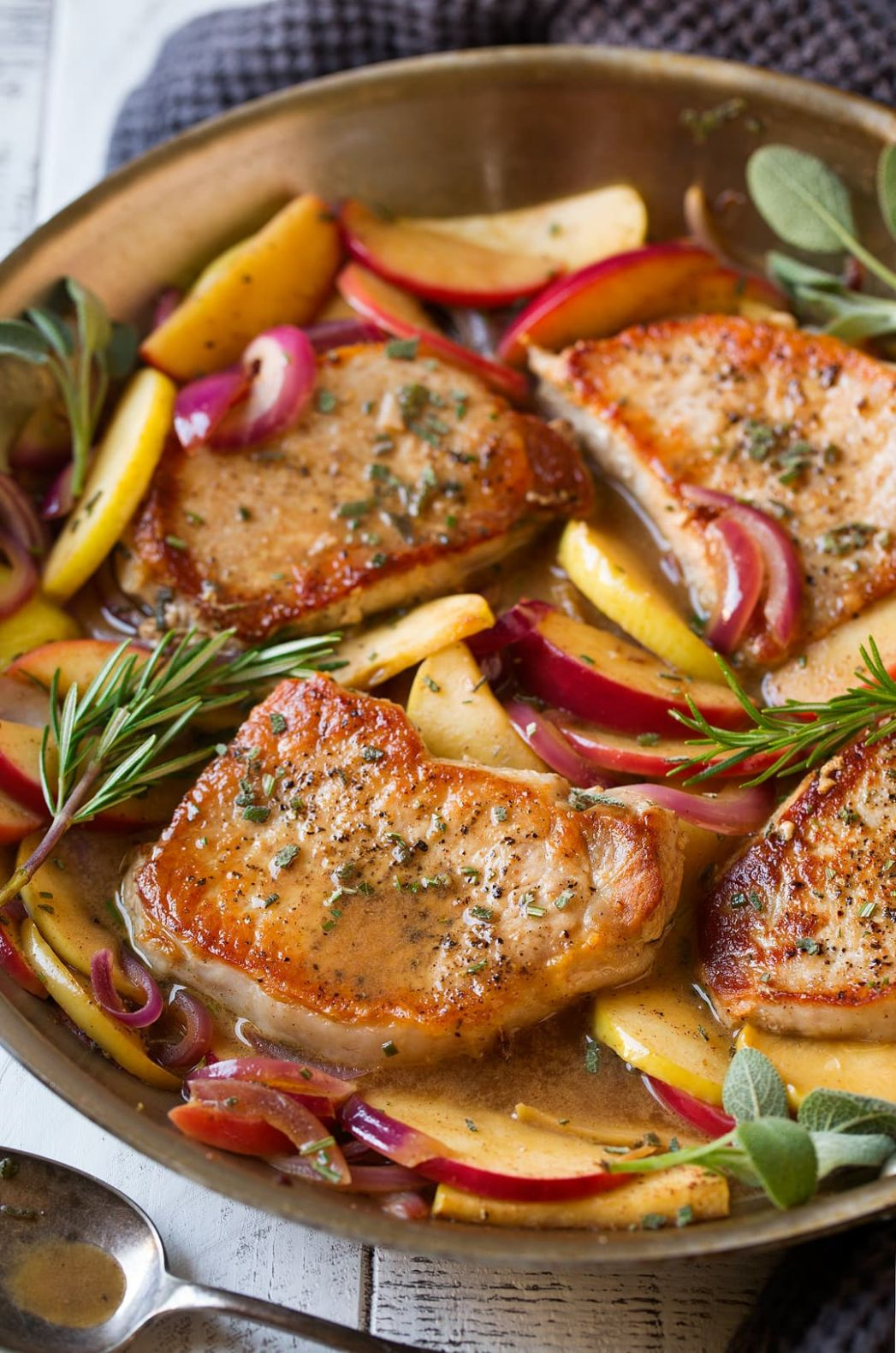 Pork Chops with Apples and Onions - Cooking Classy