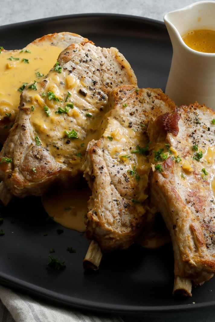Pork Chops With Dijon Sauce - Recipe Pork Dijon