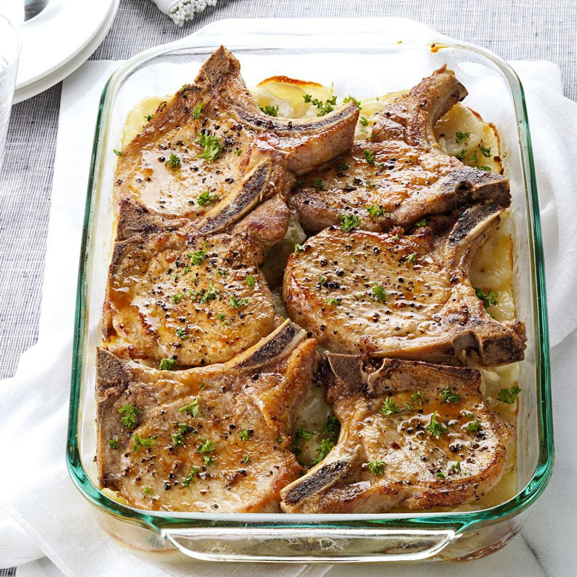 Pork Chops with Scalloped Potatoes - Recipes Cooking Pork Chops
