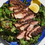 Pork Shoulder Steaks With Grilled Mustard Greens – Recipes Pork Shoulder Steaks