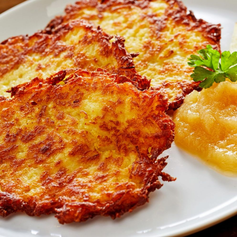 Potato Pancakes (German Kartoffelpuffer) - Recipes Potato Pancakes
