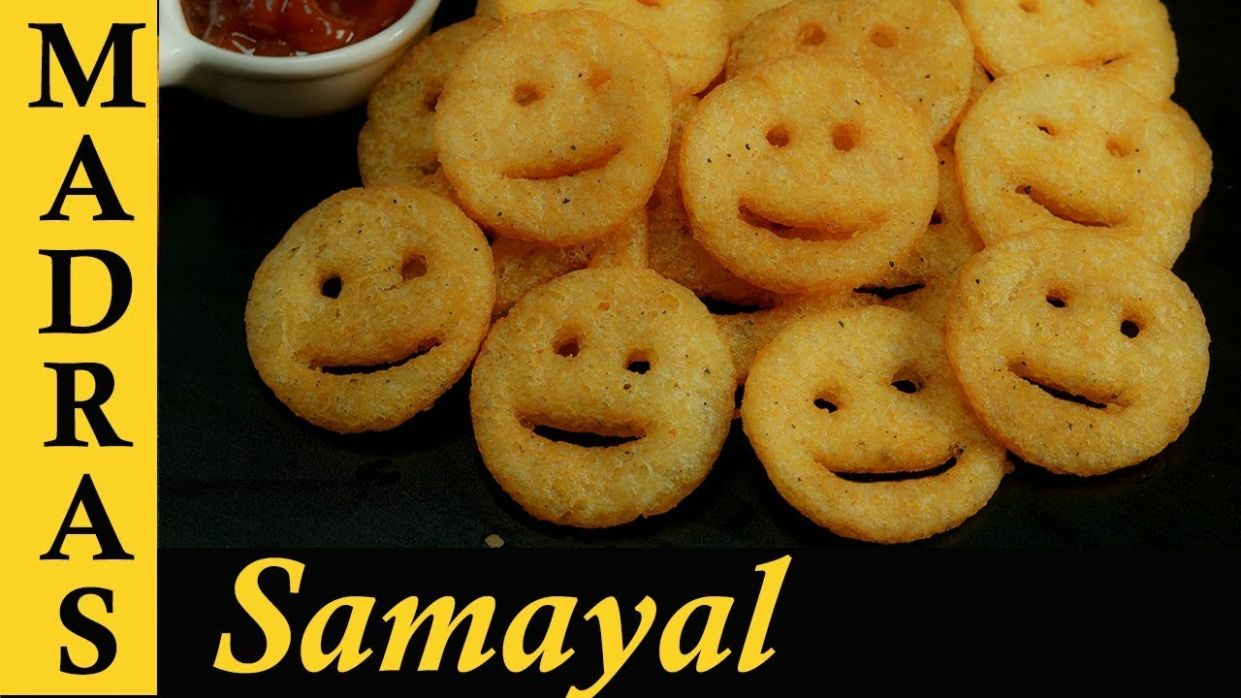 Potato Smiley Recipe in Tamil | How To Make Potato Smiley | Homemade Crispy  Smiley Recipe - Potato Recipes In Tamil
