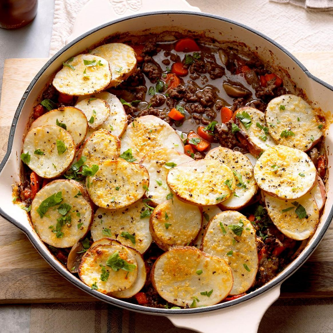 Potato-Topped Ground Beef Skillet - Food Recipes With Ground Beef