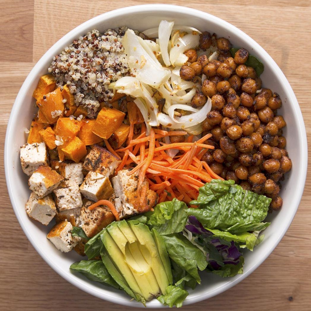 Protein-Packed Buddha Bowl Recipe by Tasty - Vegetarian Recipes Rich In Protein