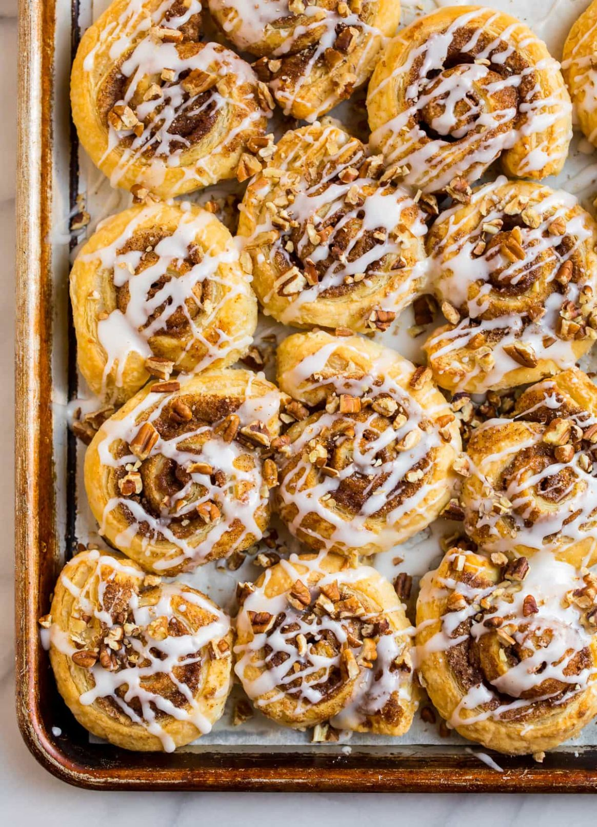 Puff Pastry Cinnamon Rolls - Easy Recipes Using Puff Pastry