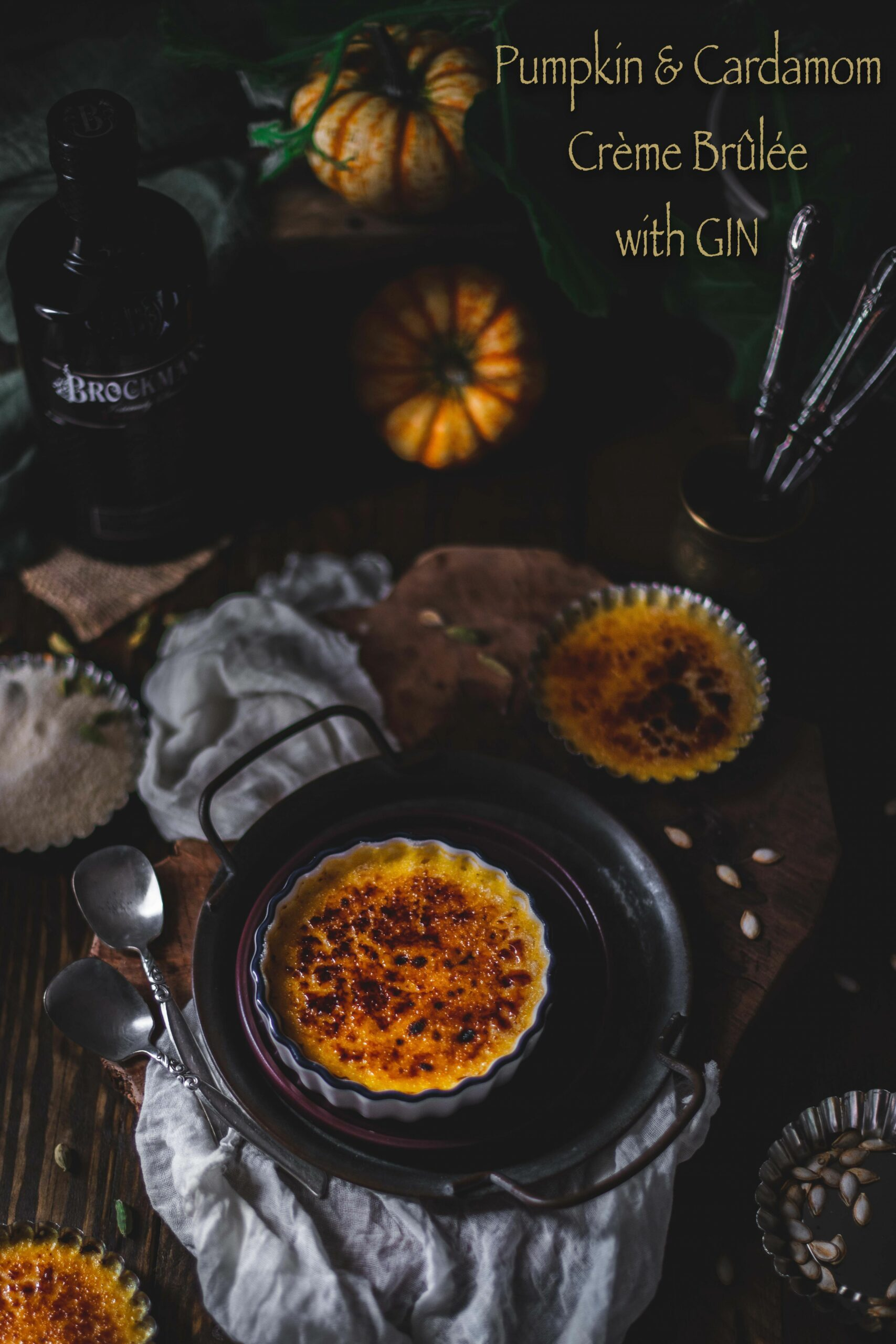 Pumpkin and Cardamom Crème Brûlée with Gin - Gastronomic BONG