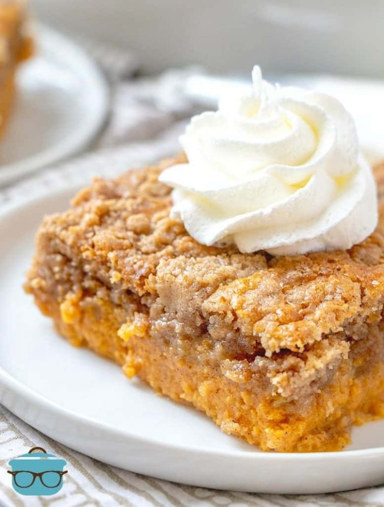 PUMPKIN PIE DUMP CAKE (+Video) | The Country Cook dessert - Recipes Cake Mix And Pie Filling
