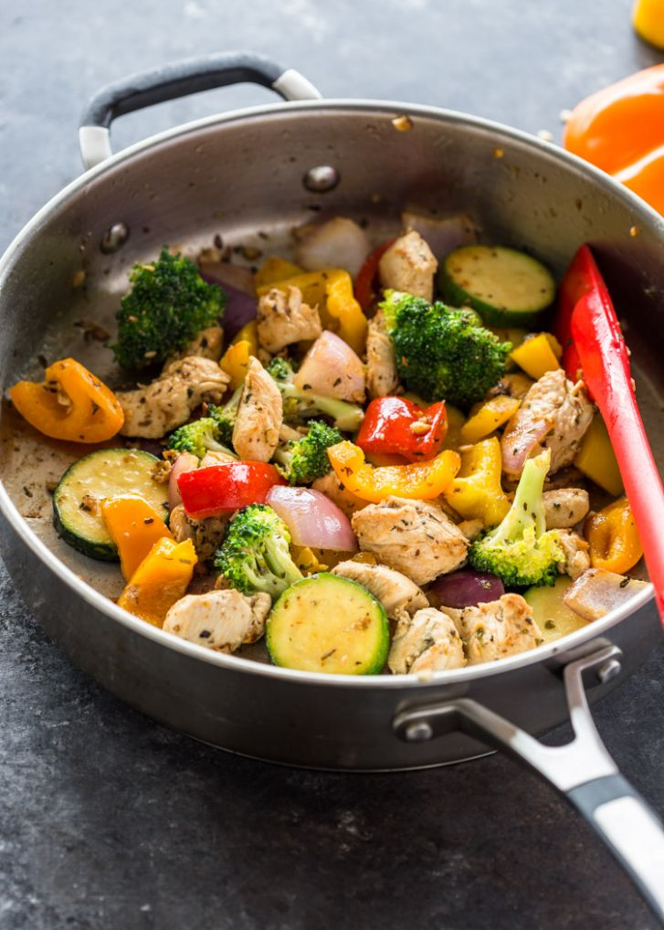 Quick 11 Minute Stir-Fry Chicken and Veggies - Healthy Recipes Vegetables