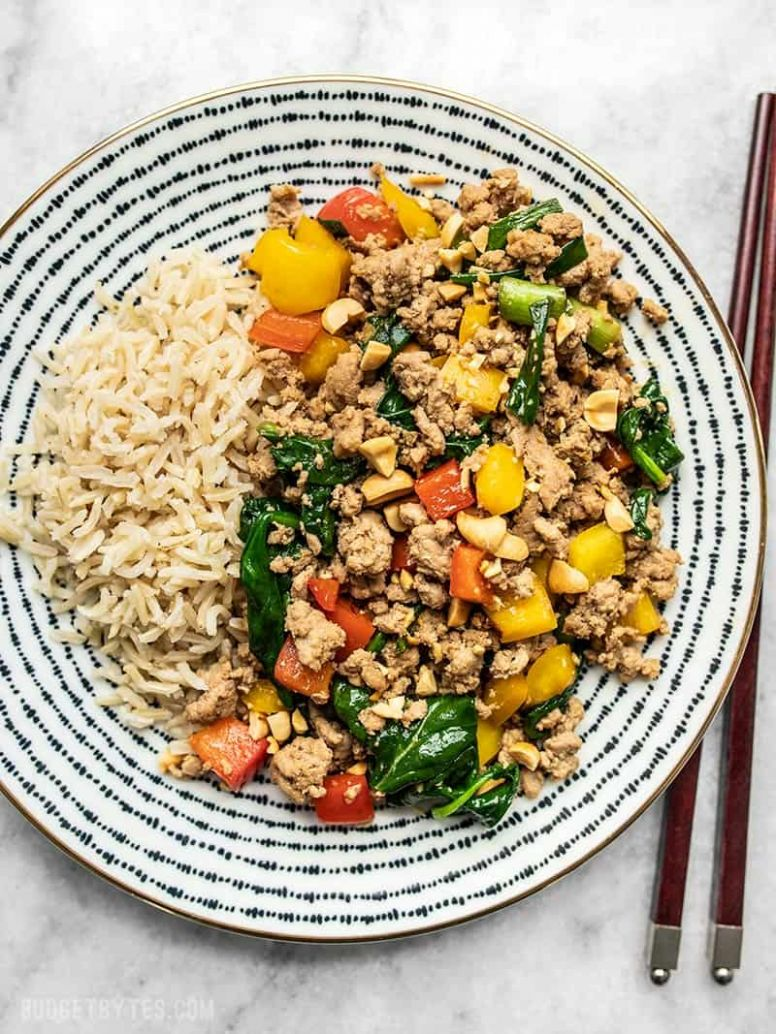 Quick & Easy Ground Turkey Stir Fry - Budget Bytes - Healthy Recipes Ground Turkey