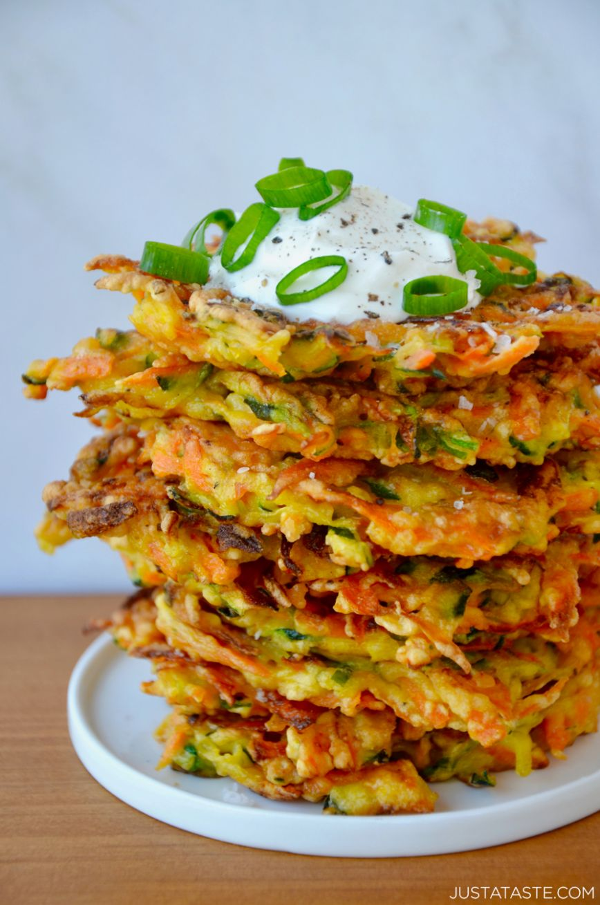 Quick and Crispy Vegetable Fritters - Recipes Vegetarian Fast