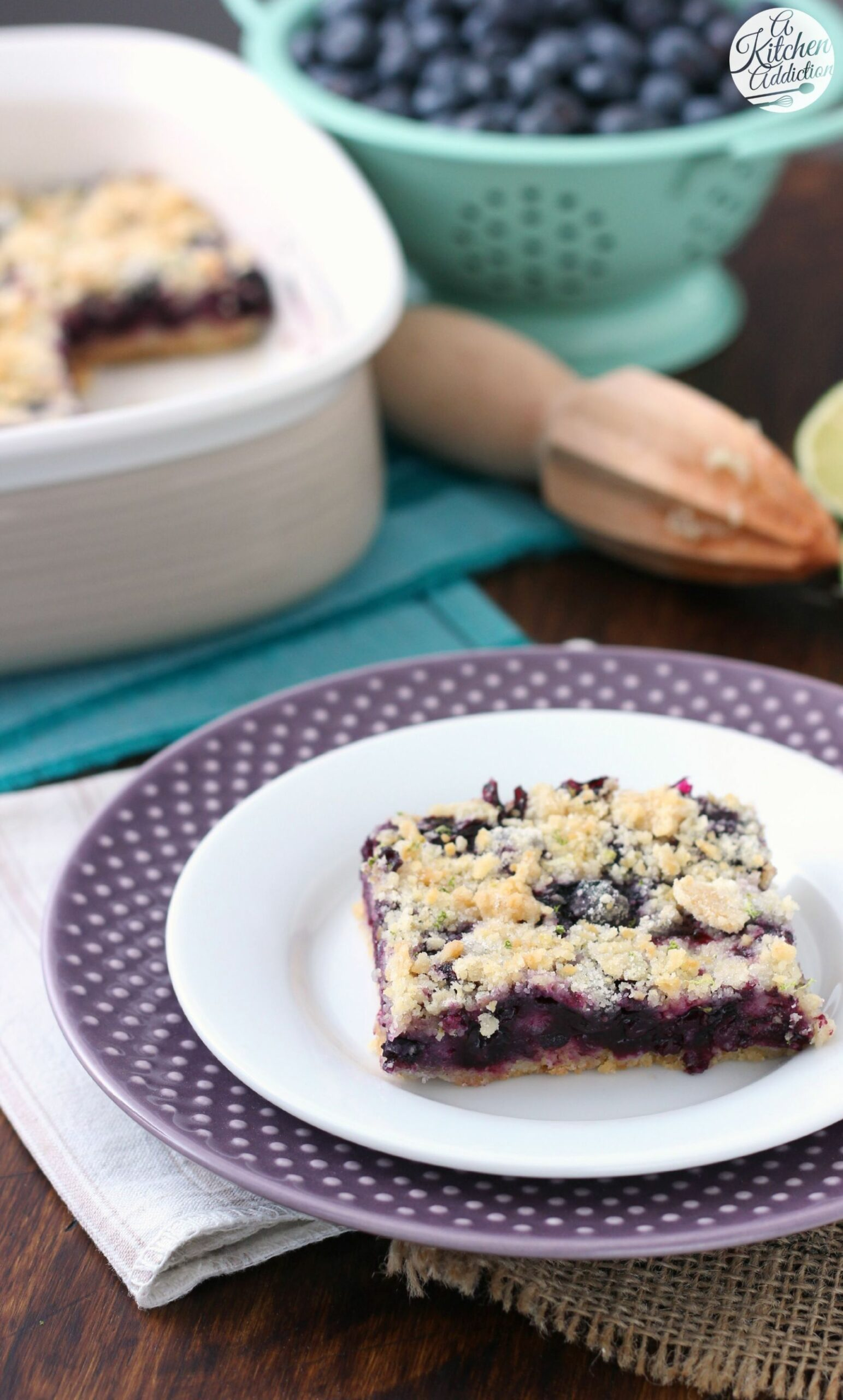 Quick and Easy Blueberry Lime Crumb Bars from @akitchenaddict ..
