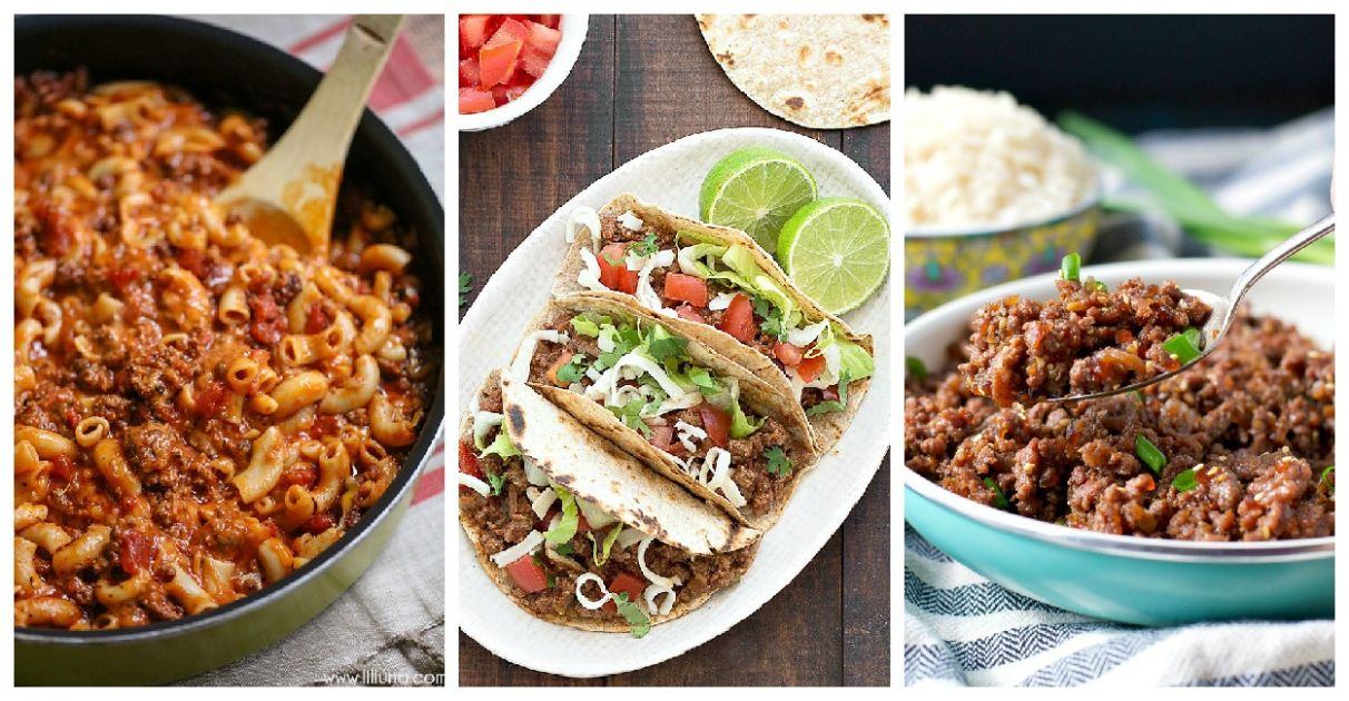 Quick and Easy Ground Beef Recipes - Family Fresh Meals - Summer Recipes Minced Beef