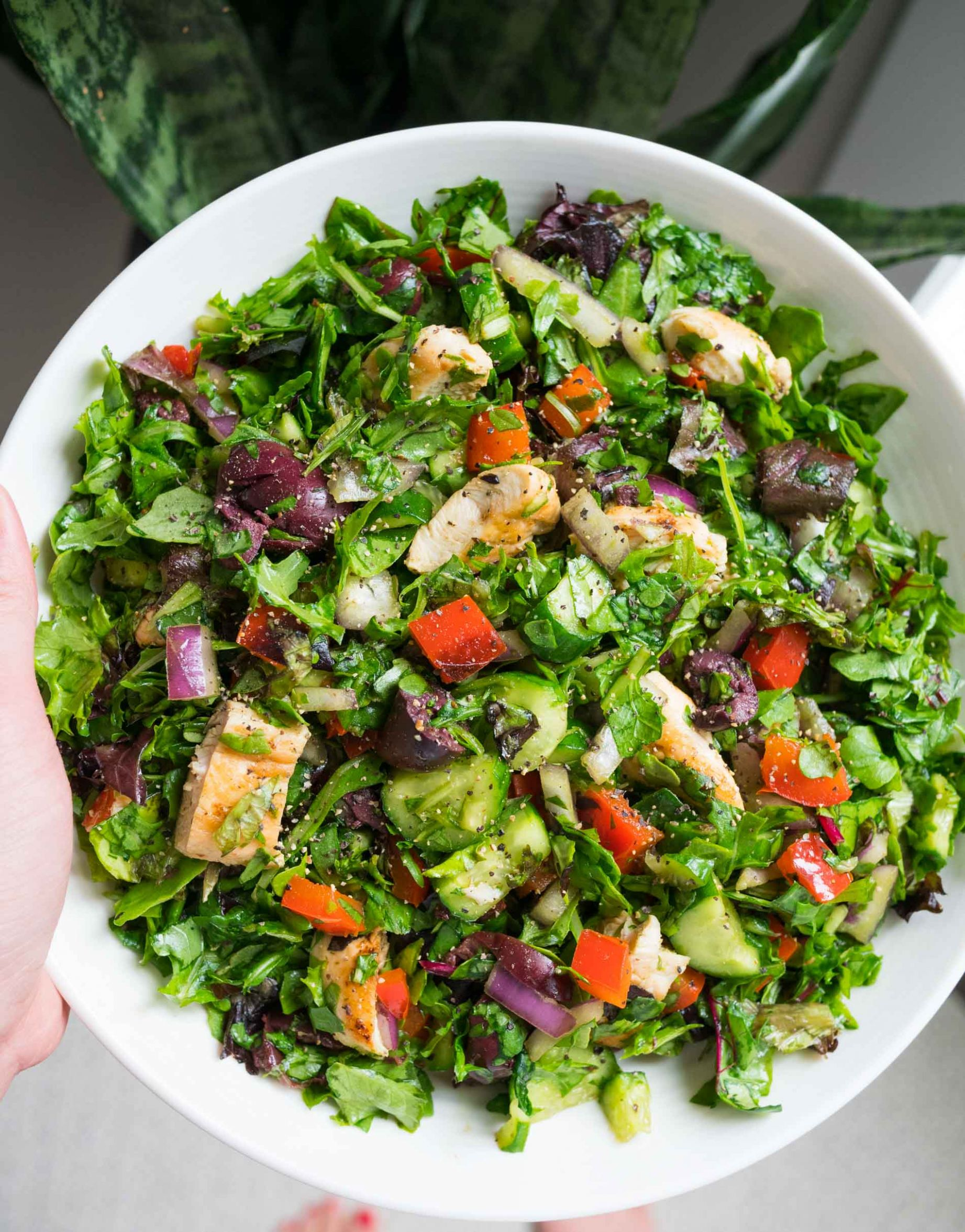 Quick Basic Chopped Salad - Easy Salad Recipe with Lots of Flavor - Salad Recipes Homemade