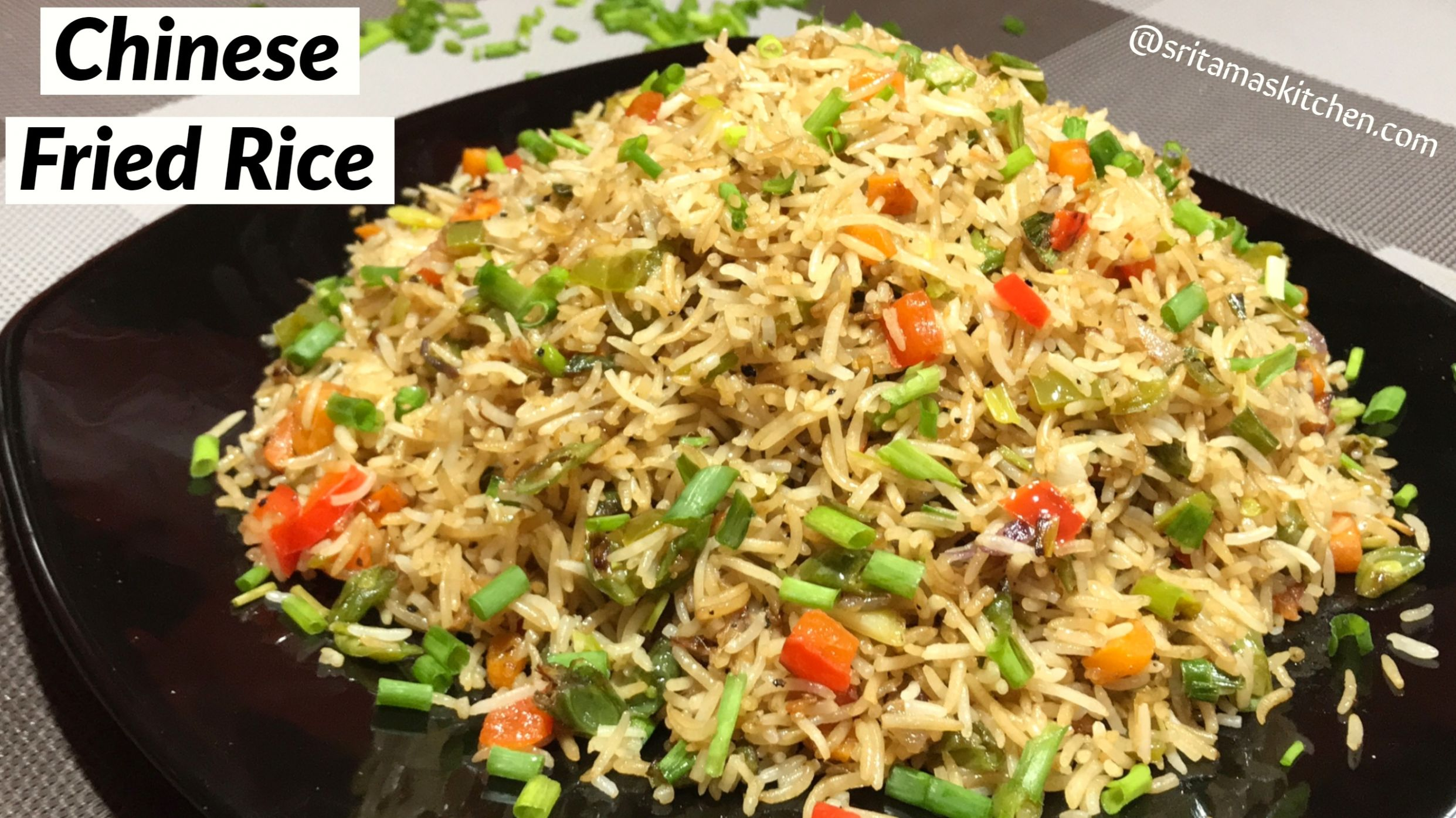 Quick Chinese Fried Rice Recipe In Hindi-Chinese Fried Rice-How to ...