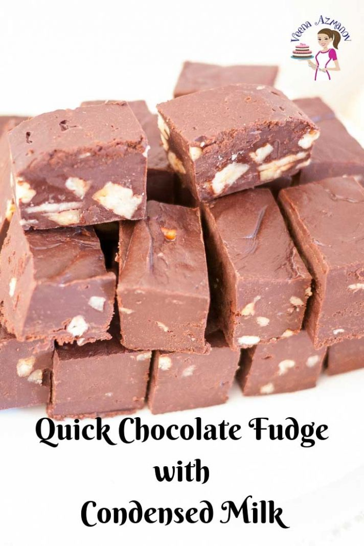 Quick Microwave Chocolate Fudge with Condensed Milk - Recipes Dessert Condensed Milk