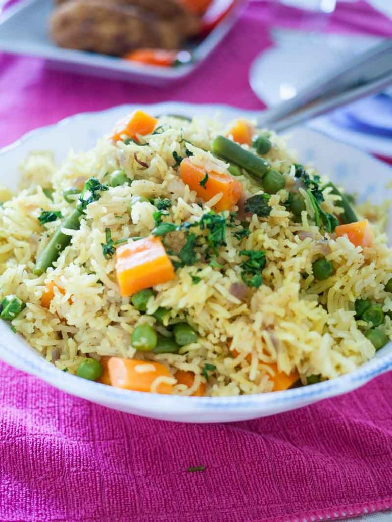 Quick One Pot Vegetable Rice Recipe - Rice Recipes One Pot