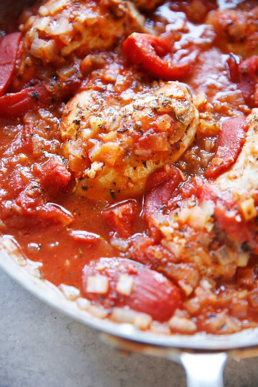 Quick Spicy Italian Chicken in Tomatoes - Recipes Chicken Breast Tomatoes
