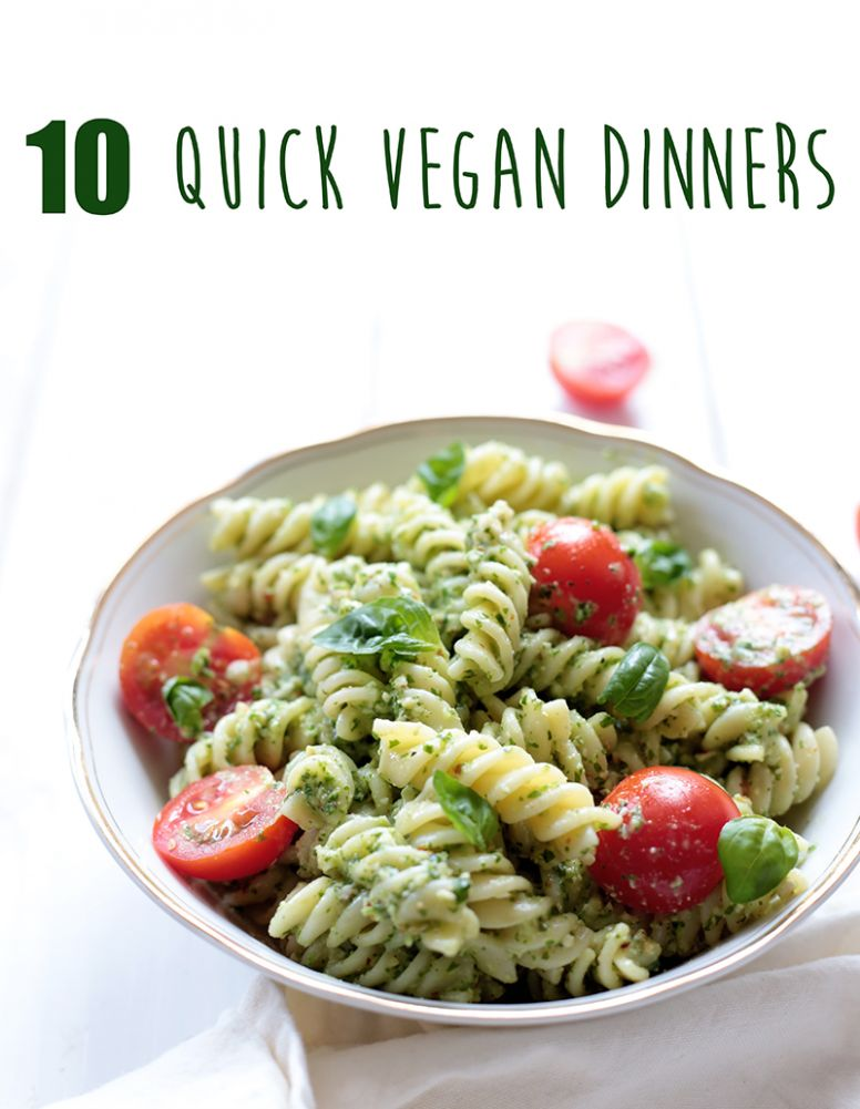 Quick Vegan Pesto Pasta - Vegan Recipes Quick