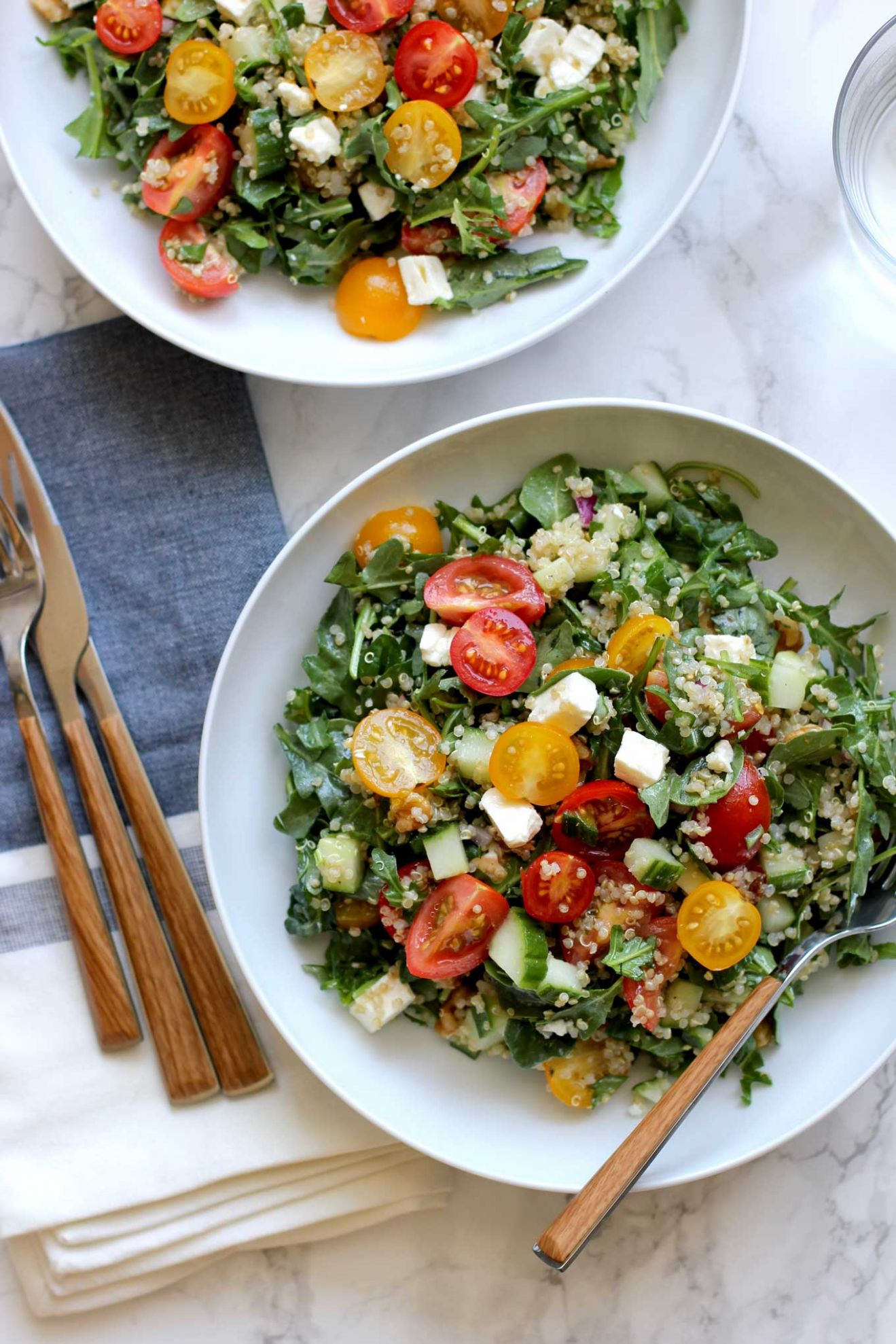 Quinoa Salad with Cherry Tomatoes and Cucumbers - Summer Recipes With Quinoa