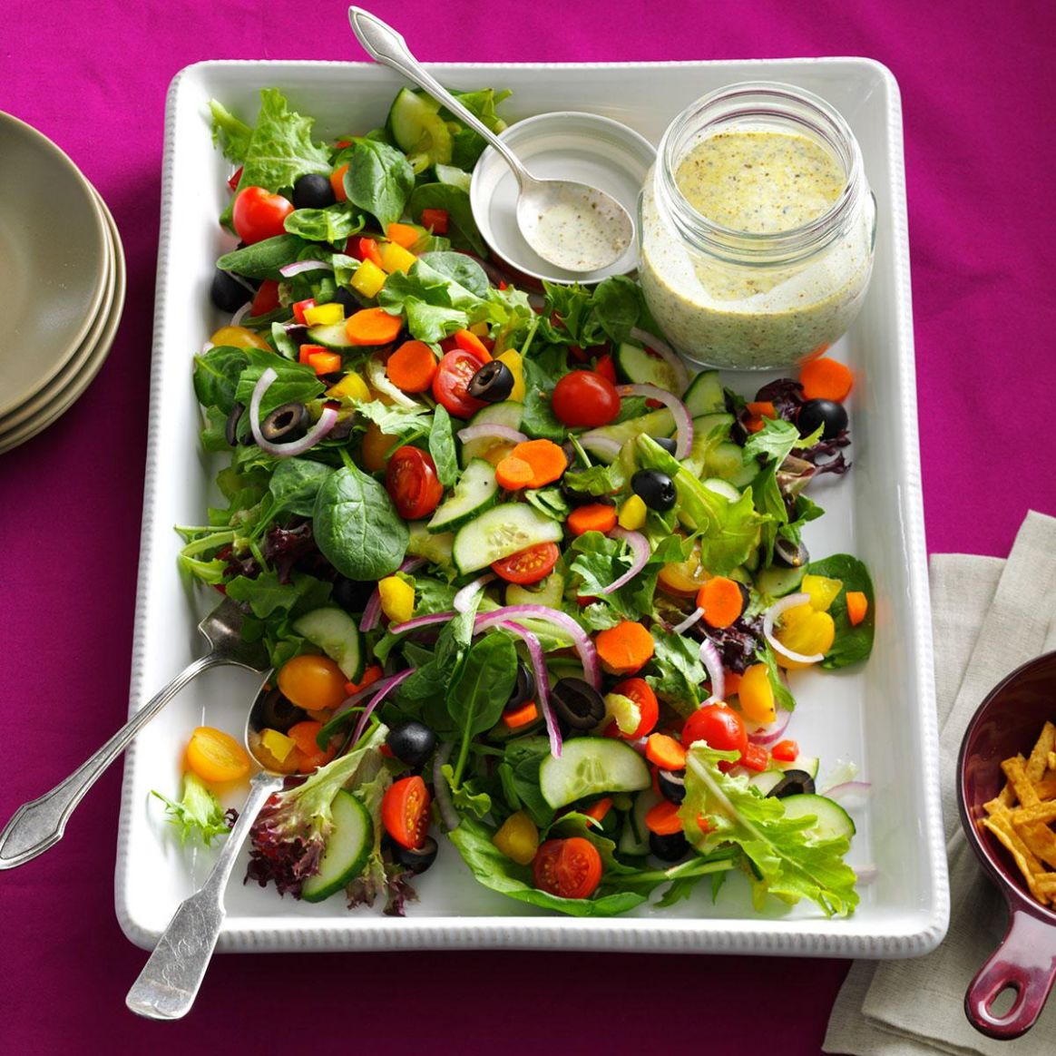 Rainbow Veggie Salad - Salad Recipes Vegan