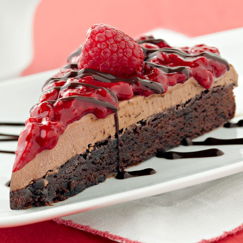 Raspberry Mocha Ice Cream Brownie Cake - Recipes Cake For Diabetics