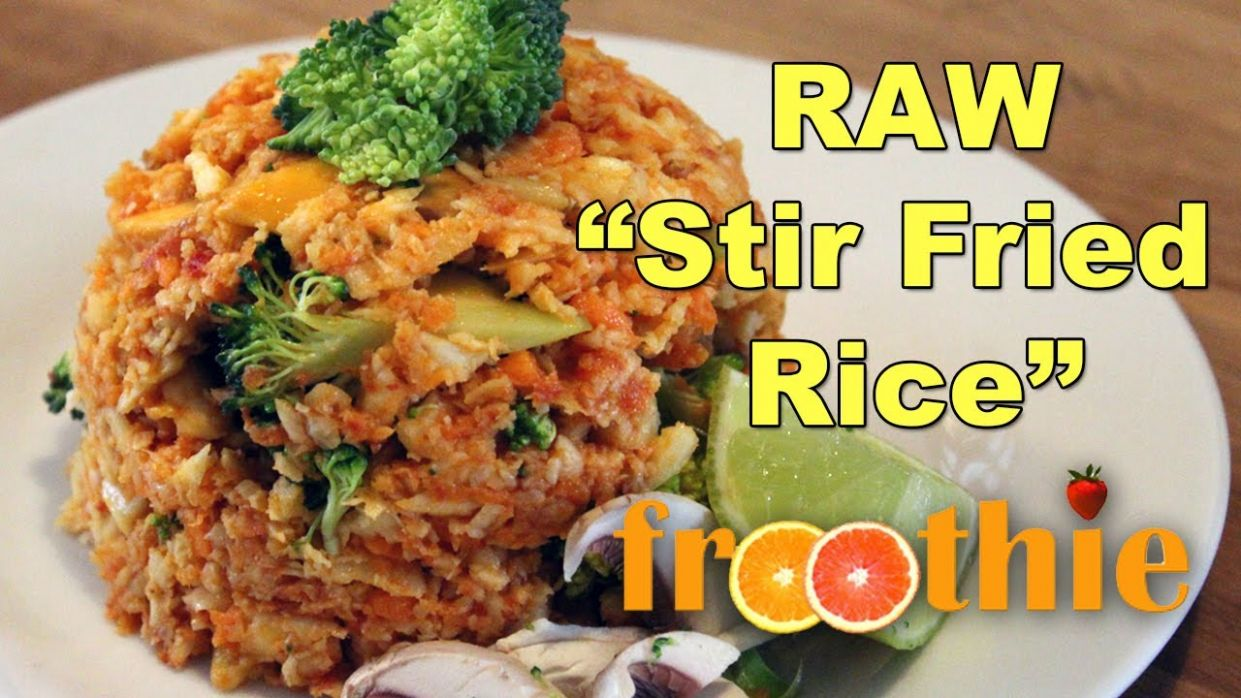 Raw Stir Fried Rice on Getting Into Raw: Cooking with Zane - Optimum 10 - Recipes With Raw Rice