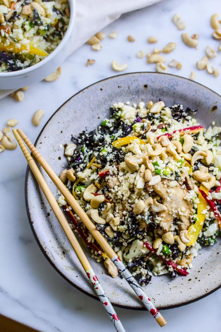 "Raw Vegan Cauliflower and Kale ""Fried Rice"" - Recipes With Raw Rice"