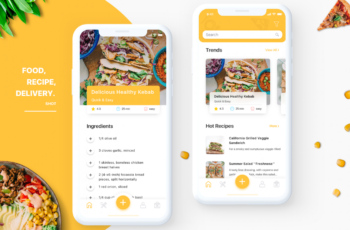 Recipe App Design Concept | App design, Food web design, Cooking app
