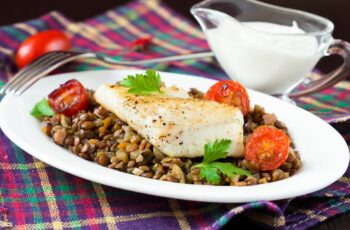 Recipe: Cod with Lentils and Salsa Verde – Health Essentials from ...