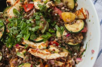 Recipe: Easy Summer Courgette, Lentil & Halloumi Salad - April ...