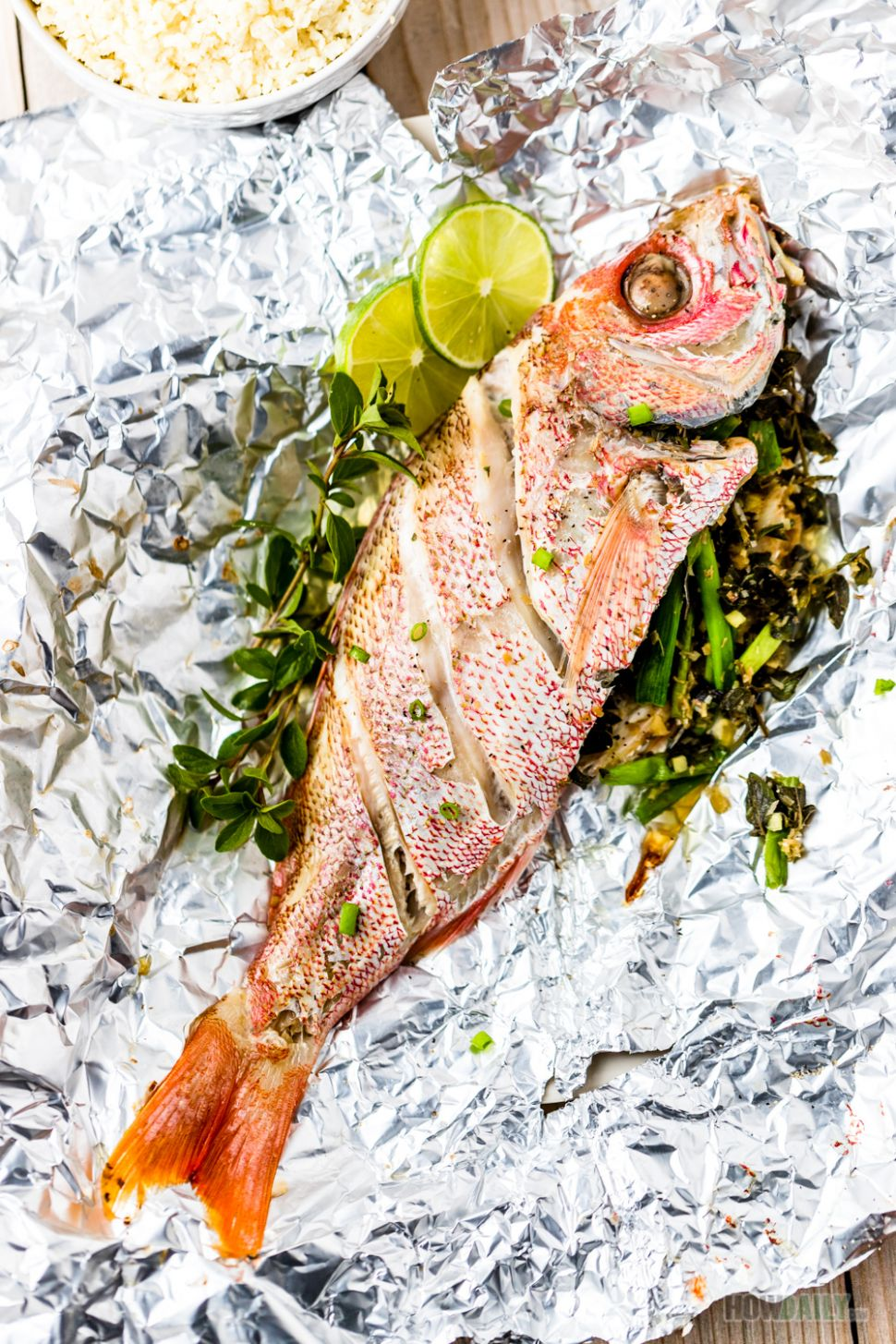 Recipe for Foil wrapped Oven baked red snapper - Recipes Red Fish