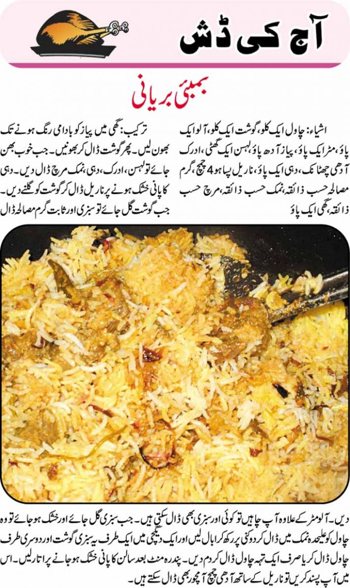 recipes: Bombay Biryani Recipe in Urdu - Recipes In Urdu Biryani