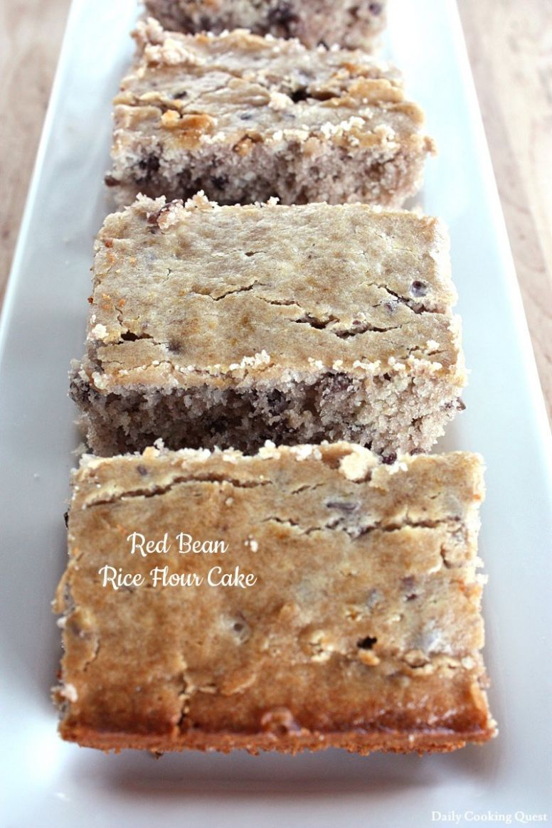 Red Bean Rice Flour Cake Recipe   Daily Cooking Quest - Recipes Using Rice Flour For Baking