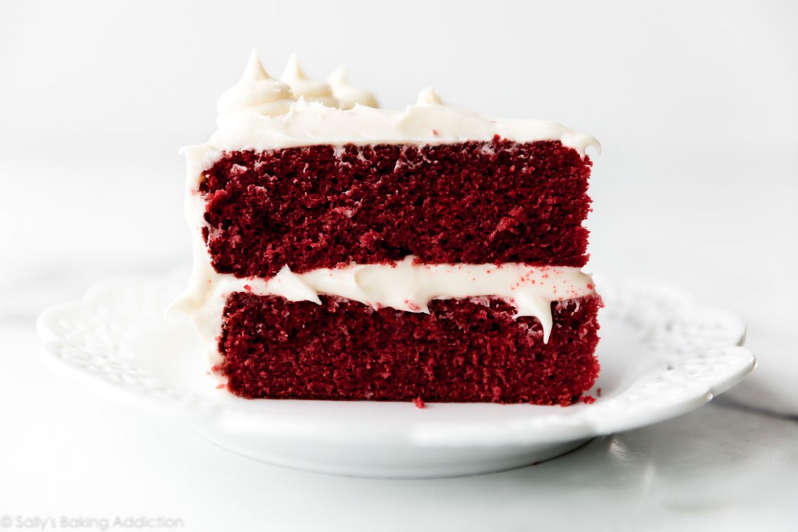 Red Velvet Cake with Cream Cheese Frosting - Recipes Cake Frosting