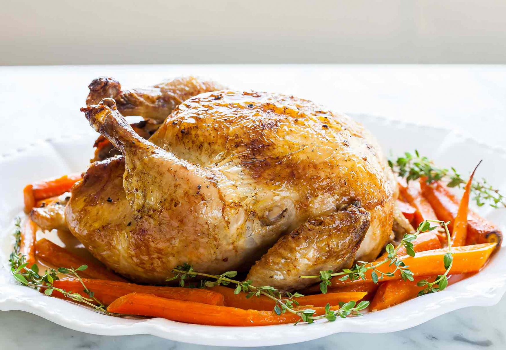 Roast Chicken with Carrots - Recipes Chicken Roast