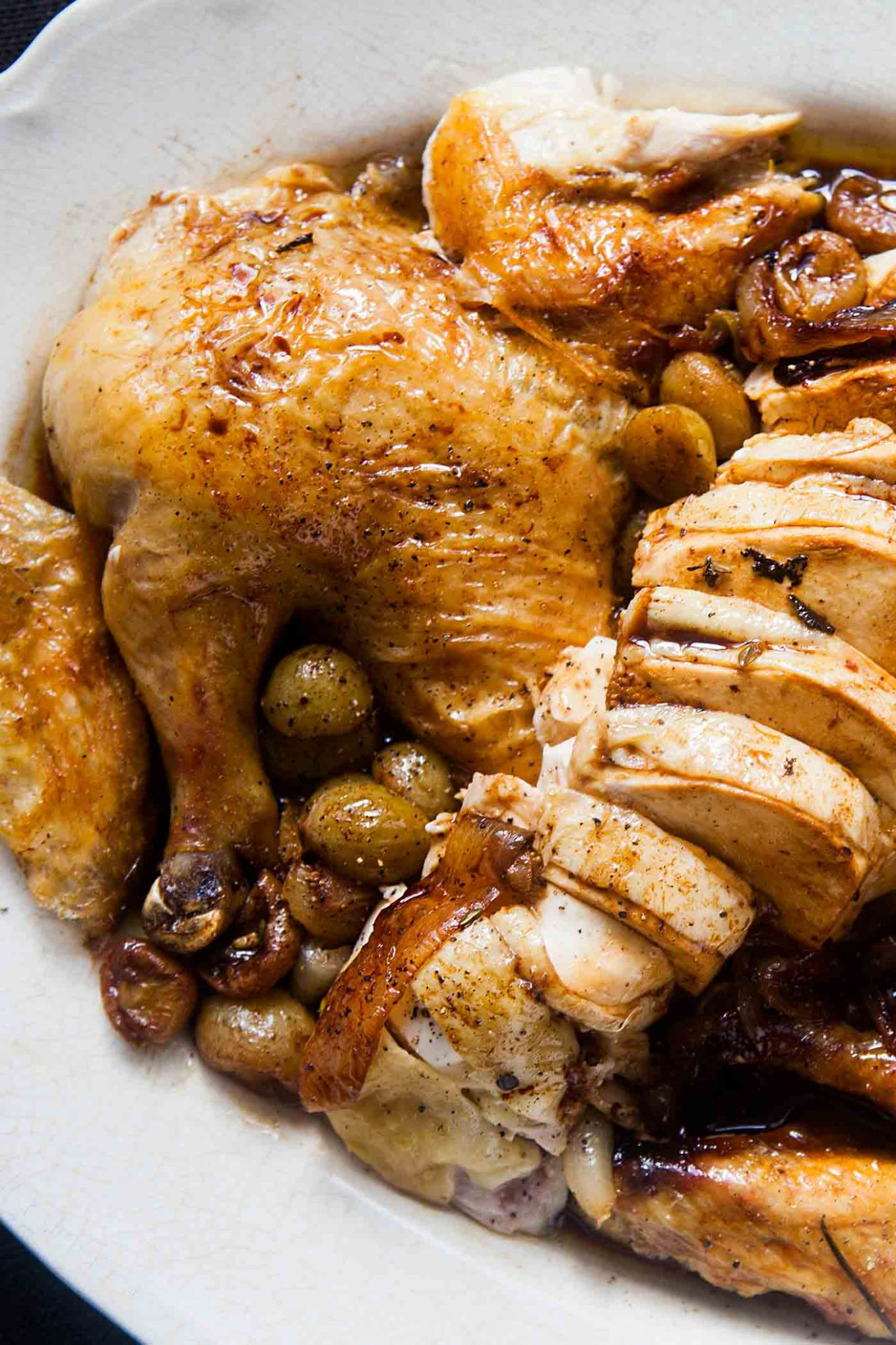 Roast Chicken with Grapes - Recipe Chicken Breast Grapes