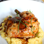Roast Chicken With Red Wine Demi Glace And Polenta – Dinner Recipes Gourmet
