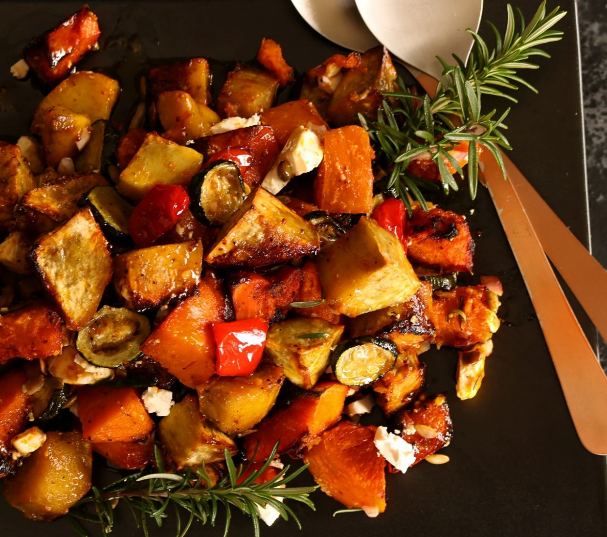 Roast Vegetable Salad with Maple Dressing - Vegetable Recipes Nz