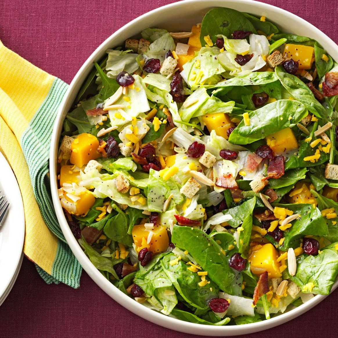 Roasted Butternut Tossed Salad - Salad Recipes For Thanksgiving