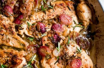 Roasted Chicken Grapes Rosemary Recipe