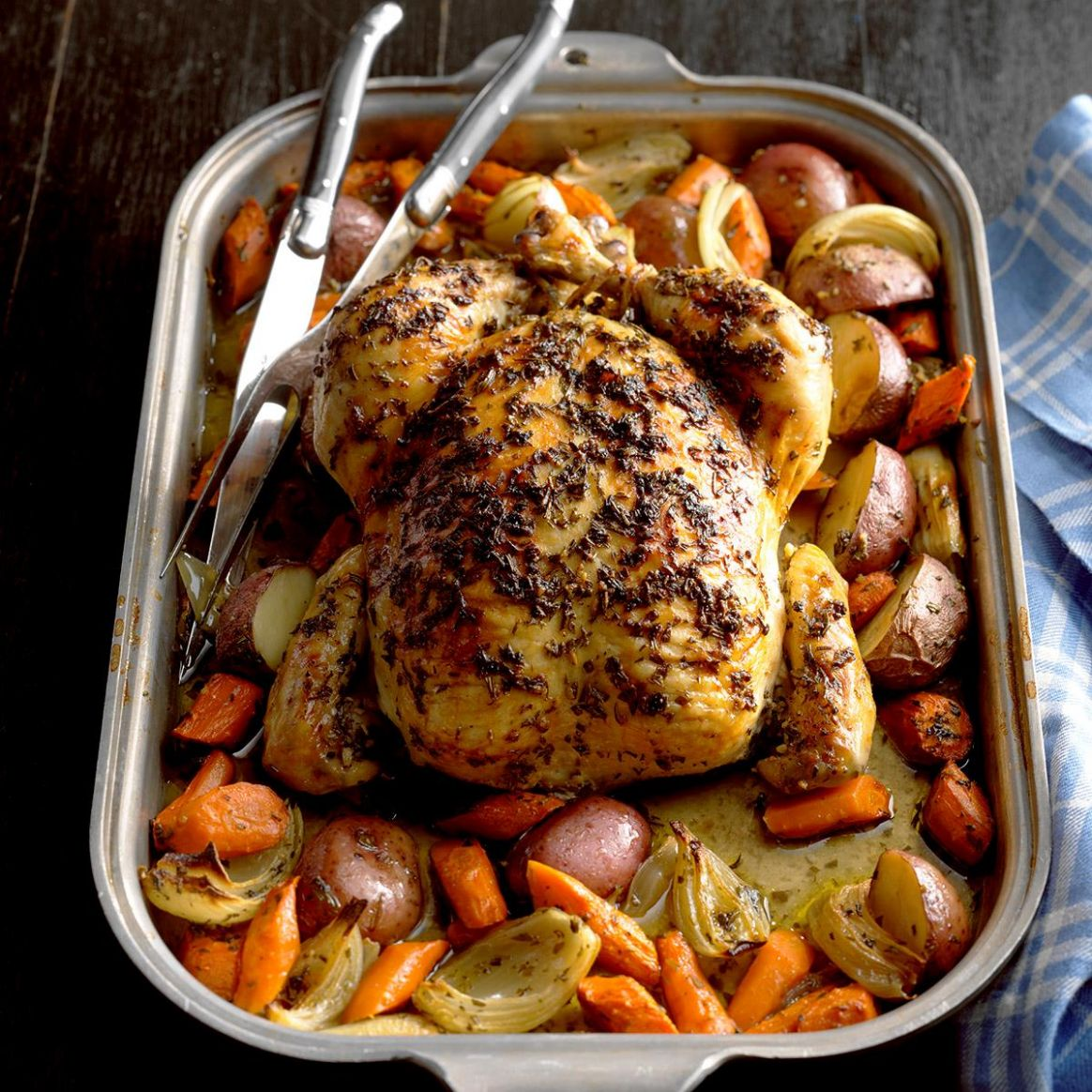 Roasted Chicken with Rosemary - Recipes Chicken Roast