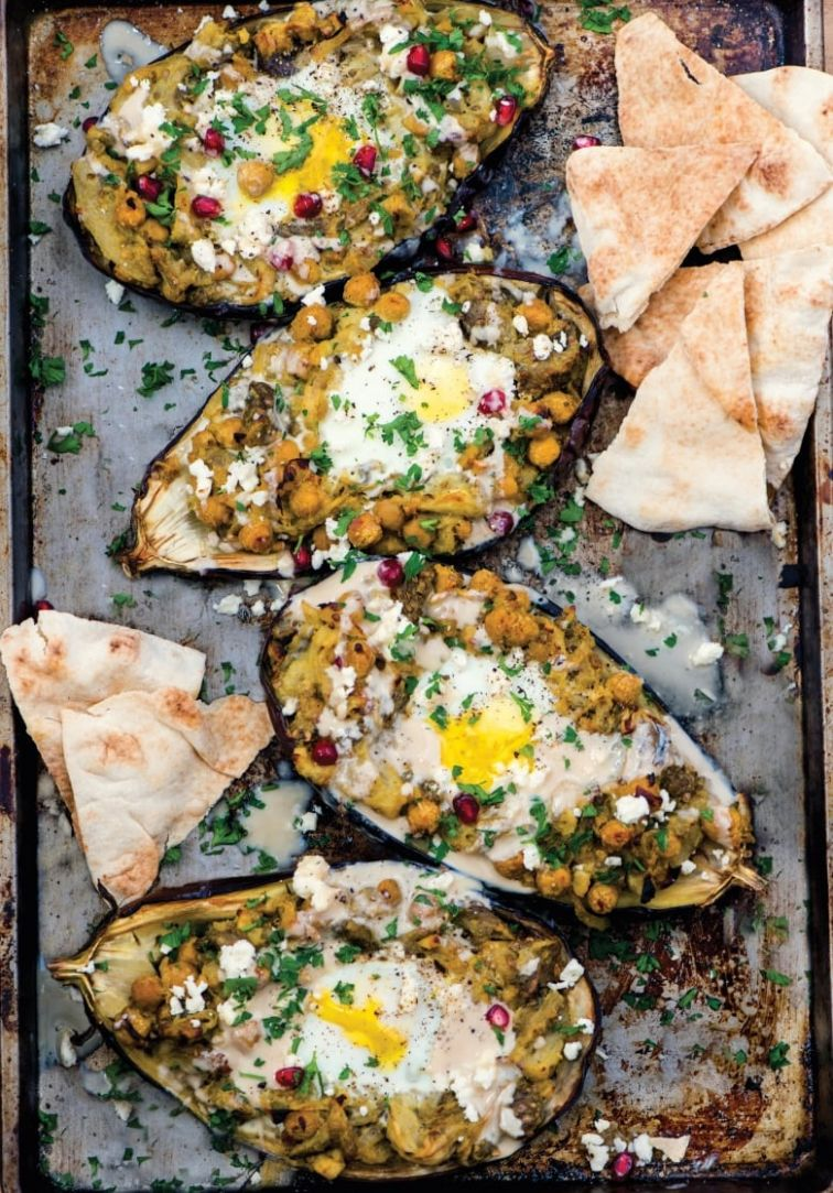 Roasted Eggplant with Baked Eggs: A vegetarian brunch so satisfying, it can  double as ..