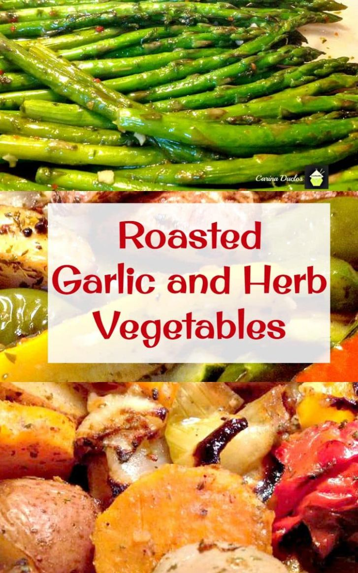 Roasted Garlic and Herb Vegetables | Lovefoodies