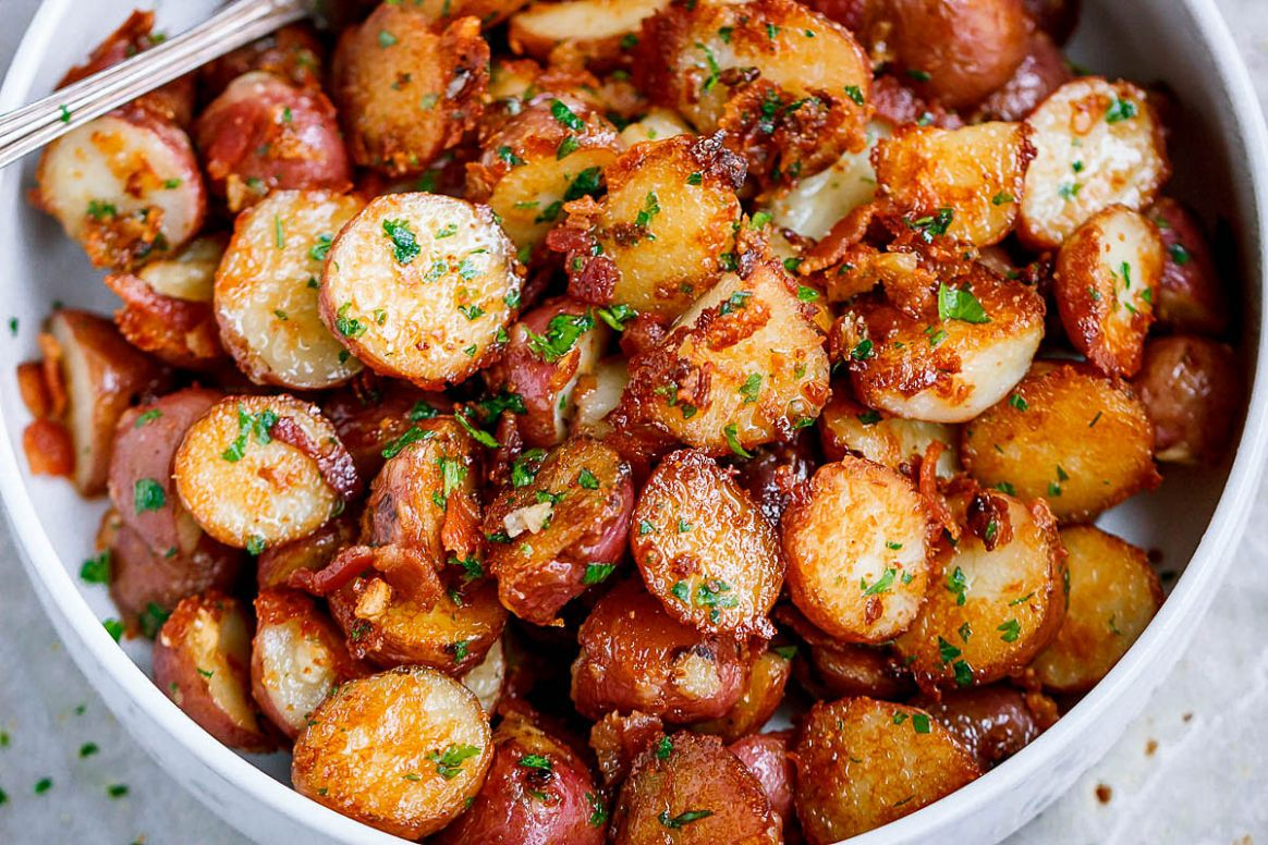 Roasted Garlic Butter Parmesan Potatoes - Potato Recipes In Oven