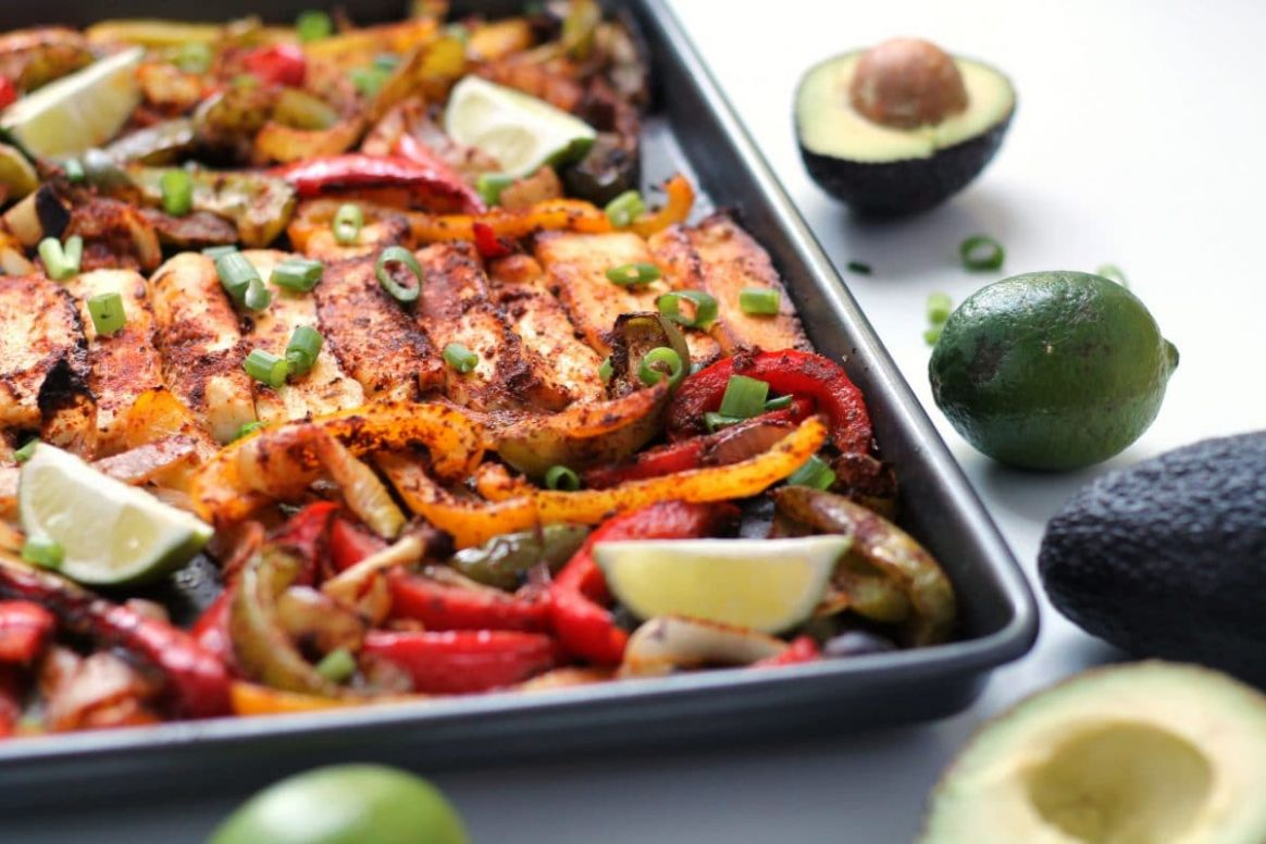 Roasted Halloumi Fajitas | Happy Veggie Kitchen - Recipes Fish Halloumi